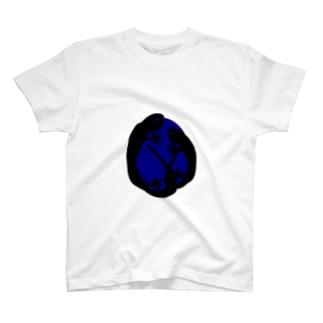 【トカゲシリーズ】青い月ver. T-shirts