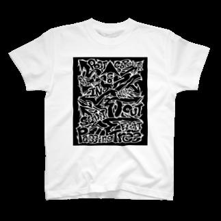 PB.DesignsのPassingTree・ブラック T-shirts