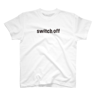 switch off ロゴプリント T-shirts