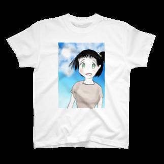 げーむやかんのファンタジー調で描いた村娘 T-shirts