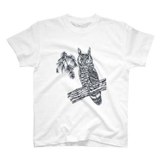 トラフズク T-shirts
