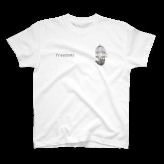 Randa.shopのfreedom soth (小ロゴ) T-shirts