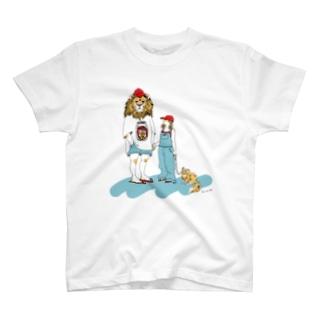 ライオンくんとLEOビール T-shirts
