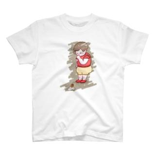 ソフトクリーム落としちゃった子 T-shirts