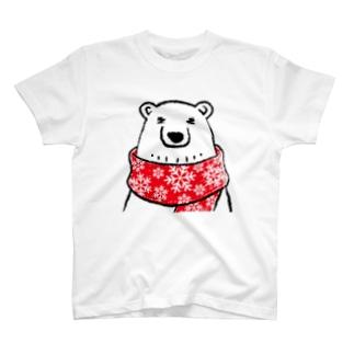 シロクマとマフラー T-shirts