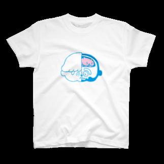 SHOP味み suzuri店の脳くん T-shirts