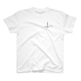 心電図Tシャツ(QRS波)正常 T-shirts