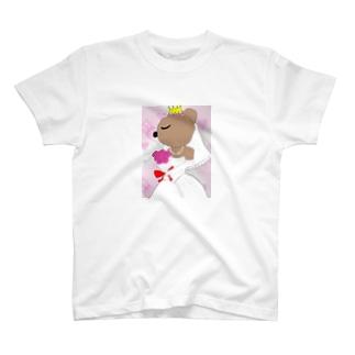 花嫁クマ T-shirts
