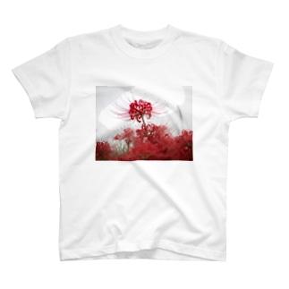雨の彼岸花 T-shirts