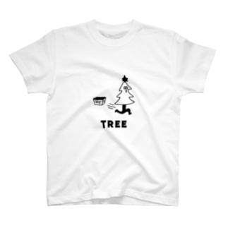 クリスマスツリーが飛び出す Tシャツ