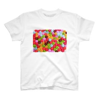 かおかし・マーブルチョコ T-shirts