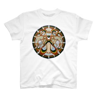 月の蛾 輪 T-shirts
