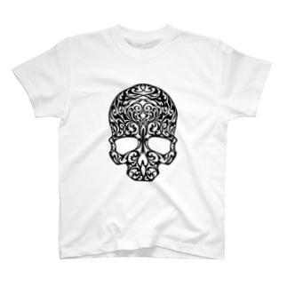 アールヌーボースカル T-shirts