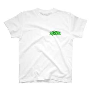 Zoltax. グラフィティ ロゴ ライトグリーン T-shirts