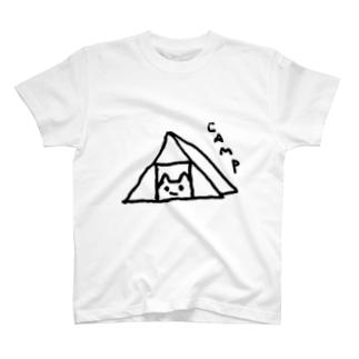 ぴよこねこ -Camp- T-shirts