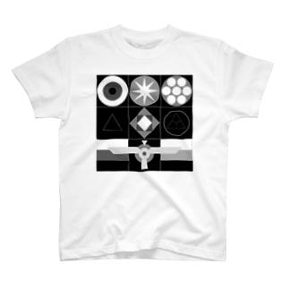 インターステラエニアグラム(モノクロ) T-shirts