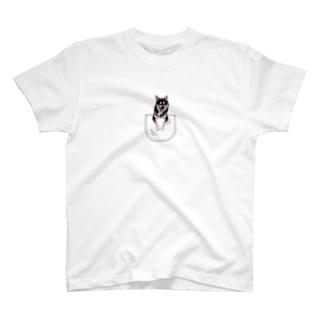 サンプル=あなたのペットちゃんinポケット T-shirts