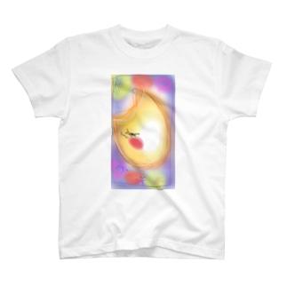 お月さま Tシャツ