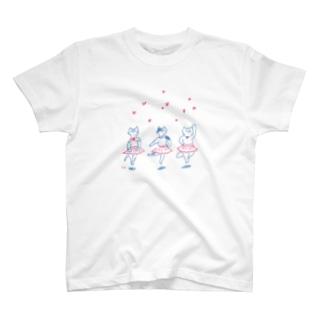 バレリーナネコ T-shirts