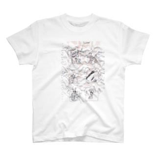 イマジナリ―の1ページ しわ有 T-shirts