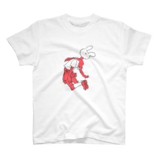 飛ぶ、セキグチうさぎ T-shirts