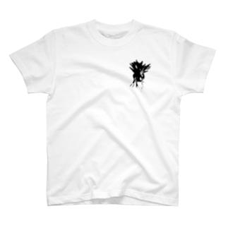 ビカクシダ コウモリラン シンプル モノトーングラフィック T-shirts