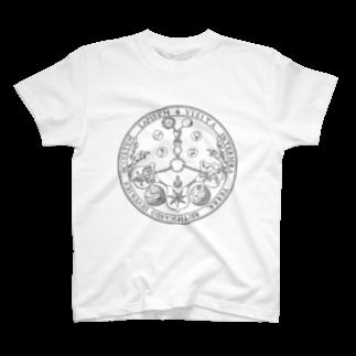 metao dzn【メタをデザイン】のエメラルド・タブレット T-shirts