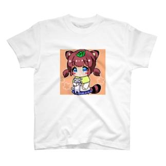 ぽんぽこにゃー T-shirts