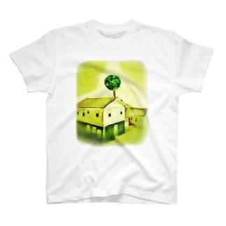 家と木と陰と T-shirts