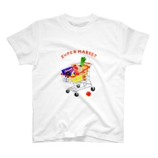 スーパーマーケット(カート) T-shirts