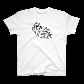 ginganoyoruのねこレンジャー T-shirts