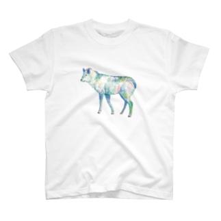 水彩カモシカ T-shirts