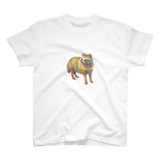 水彩タヌキ T-shirts
