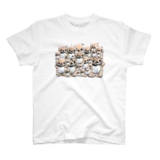 きつねのぬいぐるみ コンちゃん T-shirts