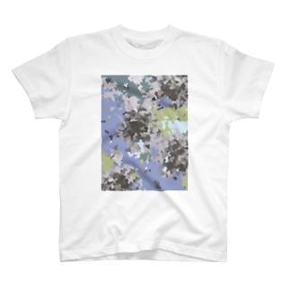 蒼いカモフラ Tシャツ