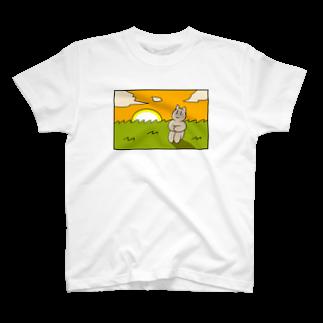 酒本さけの感傷に浸る猫ちゃん T-shirts
