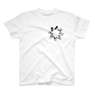 グローイングアロー(黒) T-shirts