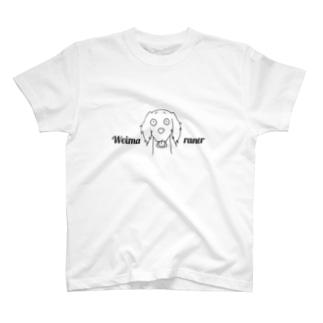 ワイマラナーロングヘアード らふどっぐシリーズ T-shirts