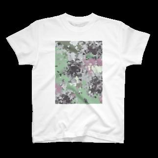 イラストレーター yasijunのモスいろカモフラ T-shirts
