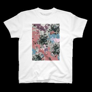イラストレーター yasijunのムラサキのカモフラ T-shirts