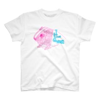 ピンクモルモット T-shirts