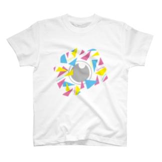 カラフルカメラCAMERA T-shirts