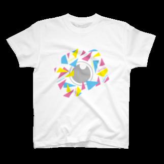 バンブータケのカラフルカメラCAMERA Tシャツ