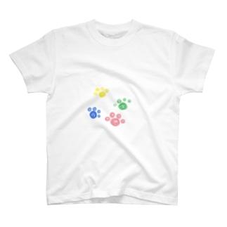 肉球カラー4K T-shirts