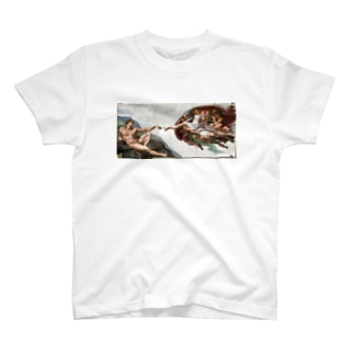 アダム創造LONG T-shirts