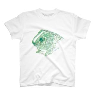 緑と黄色のモルモット T-shirts