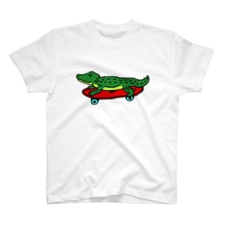 ボードわに T-shirts