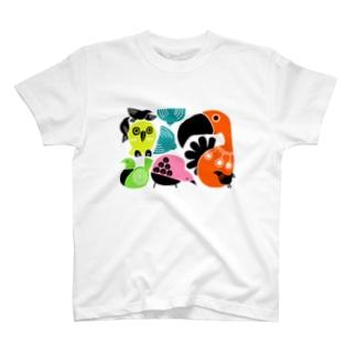 カラフルバード T-shirts