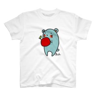りんごを食べるねずねず T-shirts
