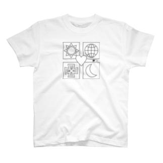 ユニバース 黒線 T-shirts